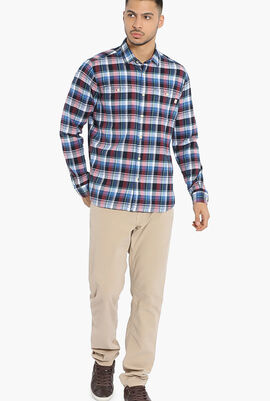 Plaid Chest Pocket Easy Fit Shirt