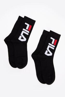 2 Pack Crew Length Socks