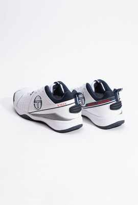 A01 Mesh White/Navy Sneakers