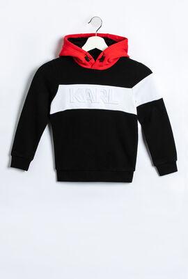 Colour Block Hoodie Sweatshirt