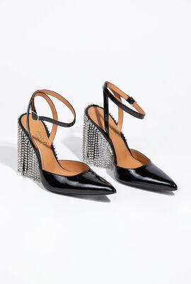 Crystal Fringe Sandals