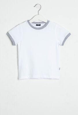 Ribbed Trim T-Shirt