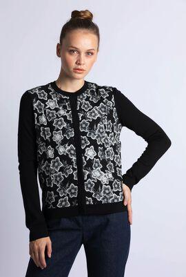 Knitted Sequins Embellished Cardigan