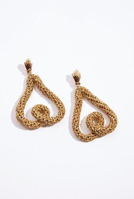 Heart Crochet Drop Earrings