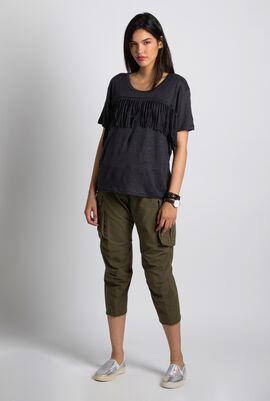 Satcha Linen Fringes T-shirt