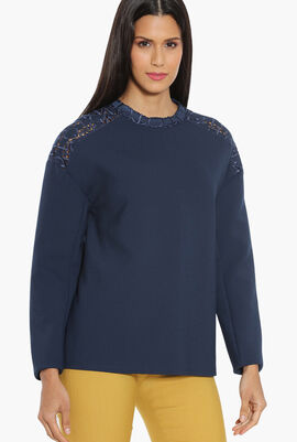 Swiss Embroidery Long Sleeve Blouse