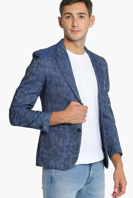 Gancinni Jacquard Double Buttoned Jacket