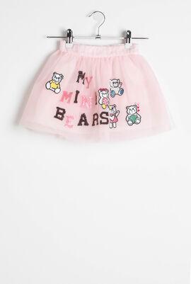 Gonna Rosa Embroidered Tulle Skirt