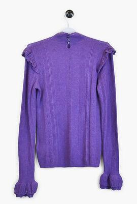 Ruffled Long Sleeve Sweater