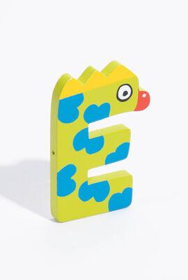 Woden letter E