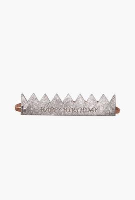 Happy Birthday Leather Headbands