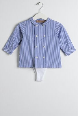 Blue Striped Shirt & Trouser Set
