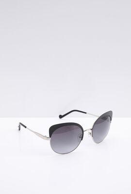 Round Black Rim Women's Sunglasses