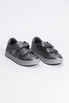 حذاء رياضي رمادي مزيد بشرائط جانبية J Djrock