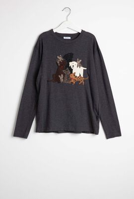Animal Patch Long Sleeve T-Shirt