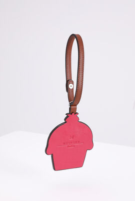 Strawberry Cupcake Leather Charm