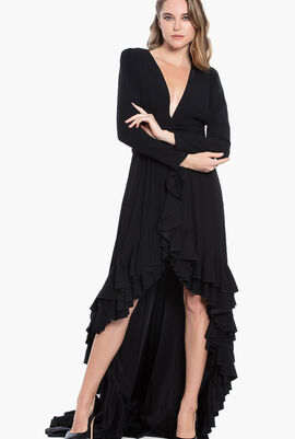 V-Neck Asymmetric Dress