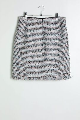 Light Blue Boucle Skirt