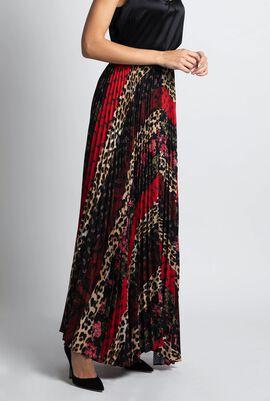 Katz Sunburst Pleated Handkerchief Skirt