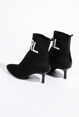 Knit Collar Ankle Boots