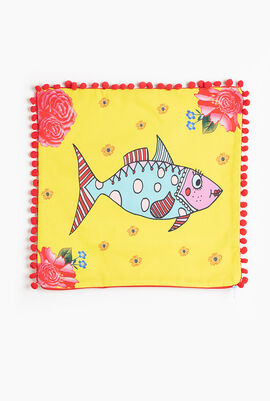 Mrs.Fish Cushion Cover