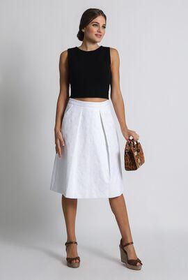 Flared Cut White Skirt