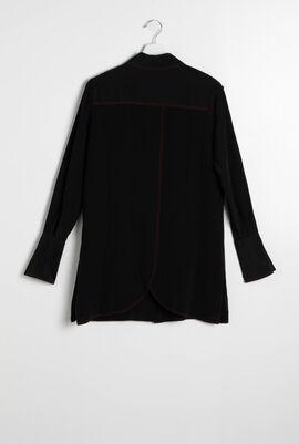 Buttons Silk Tunic Shirt