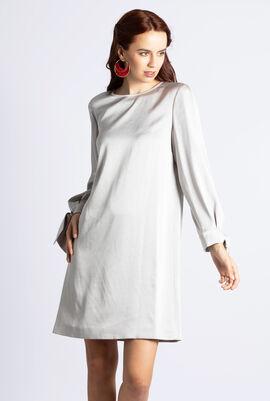 Bow Wrist Long Sleeve Dress