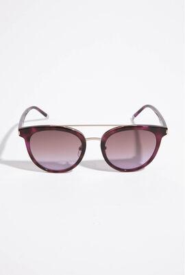 Round Purple Sunglasses