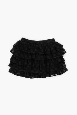 Mesh Ruffled Skirt