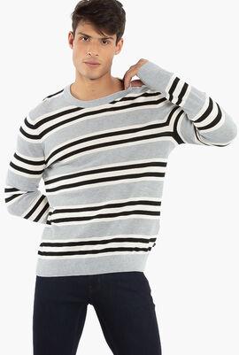 Stripe Crew Neck  Sweater