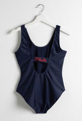 ثوب سباحة مطبوع بشعار العلامة التجارية