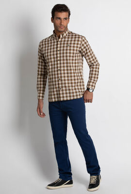 Boxy Fit Check Poplin Shirt