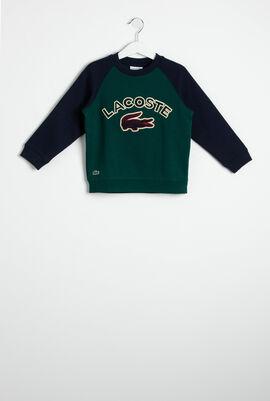 Croc Patch Colourblock Fleece Sweatshirt