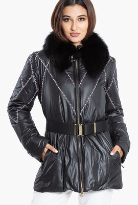 Gianni Fur Collar Puffer Jacket