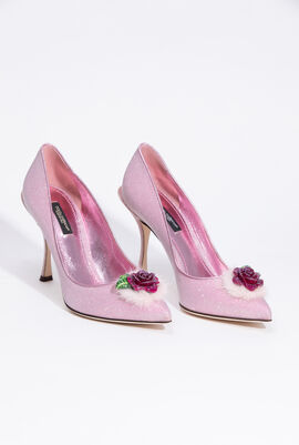 Shimmery Lurex Fabric Pumps