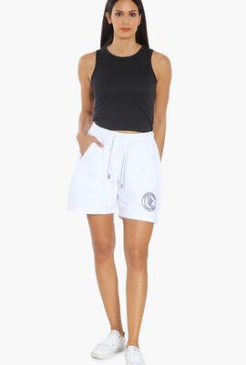 Raised Logo Cotton Shorts
