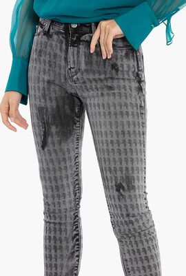 Washed Printed Jeans