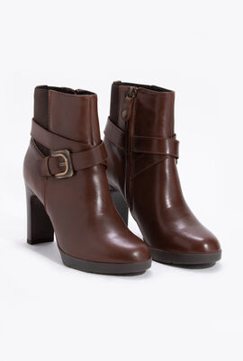 Annya A Leather Ankle Boots