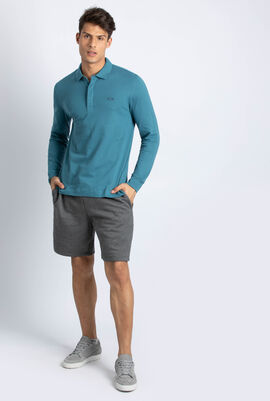 Classic Fit Stretch Long Sleeve Polo Shirt