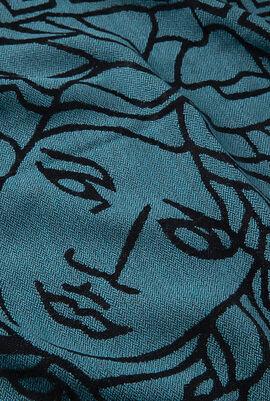 Gianni Logo Print Scarf