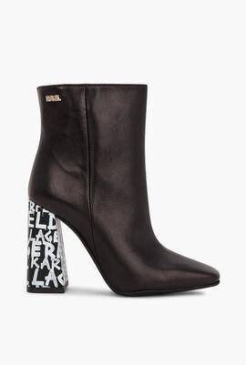 Metro Graffiti Heel Boots