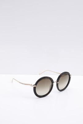Round Dark Tortoise Women's Sunglasses