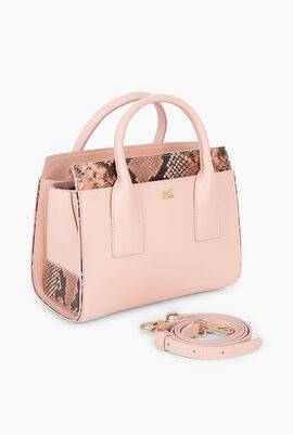 Lucille Snake Skin Small Tote Bag