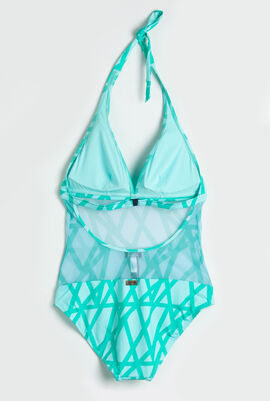 Fauve Halter One Piece Swimsuit