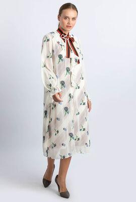 فستان سهل الارتداء بلون متباين