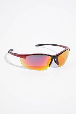 Shake Mirrored Wrap Around Sunglasses