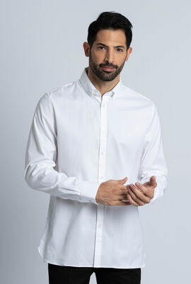 Slim Fit Stretch Cotton Pinpoint Shirt