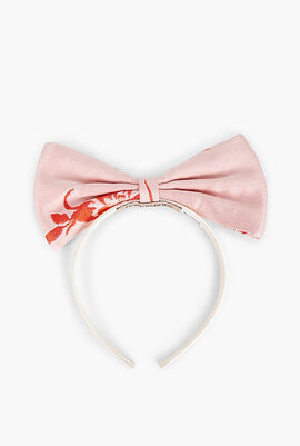 Embroidered Flower Bow Hairband