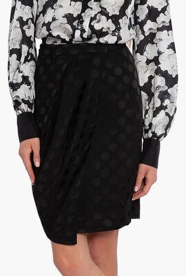 Karl X Carine Satin Dot Skirt